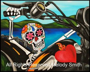 Cruzin Day of the Dead by Melody Smith
