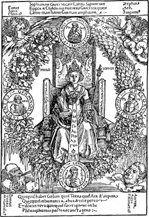 """Philosophia"" Woodblock Print by Albrect Durer"