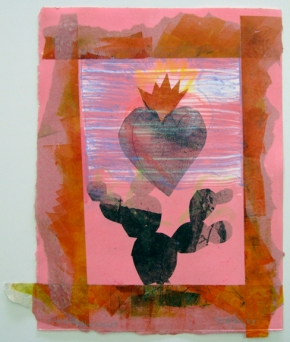 Monoprint + Collage = Mixed Media (print by Larry Yanez)